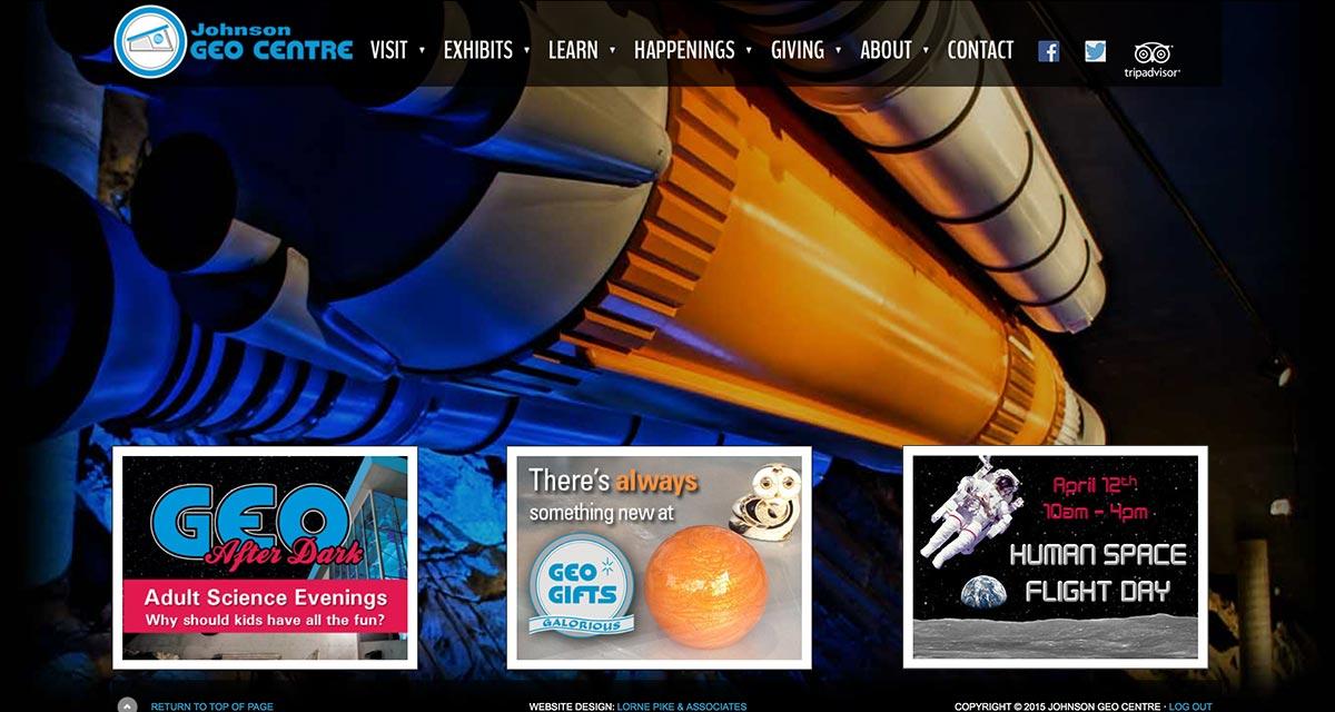 Website Design in St. Johns - Johnson GEO CENTRE