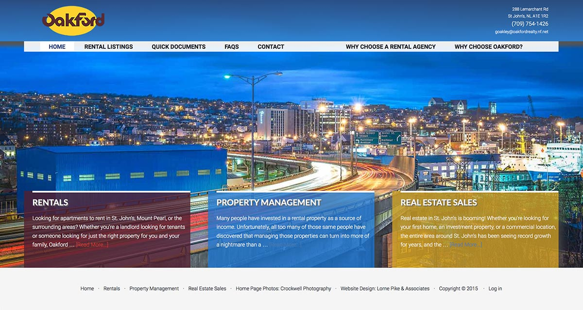 Website Design in St. Johns - Oakford Rental & Realty