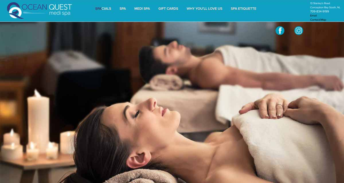Website Design in St. Johns - Ocean Quest Spa